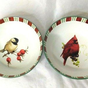 Lenox Set of 2 Winter Greetings Bowls Everyday
